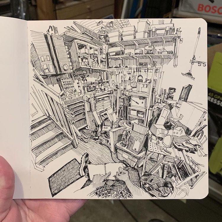 desenhos em perspectiva paul heaston 13