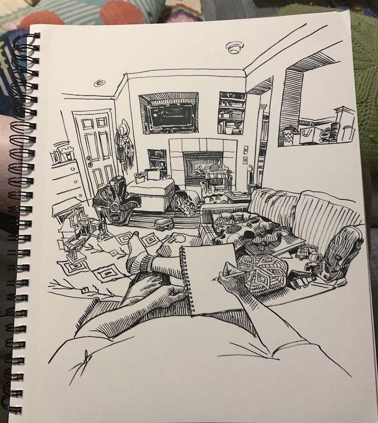 desenhos em perspectiva paul heaston 7