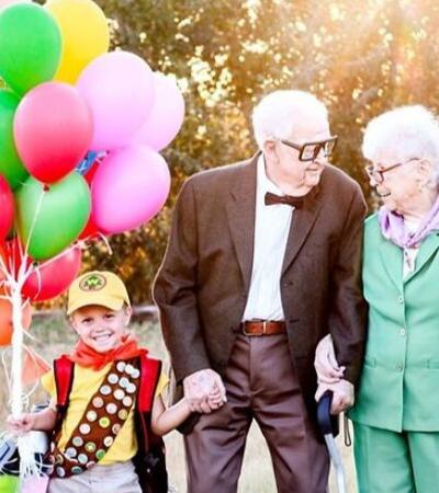 """Mãe que achou que não viveria até que seus filhos tivessem 5 anos, comemora com sessão de fotos do filme """"Up"""""""