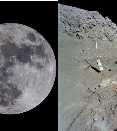 Chineses descobrem substância com aspecto de gel e cor estranha na Lua
