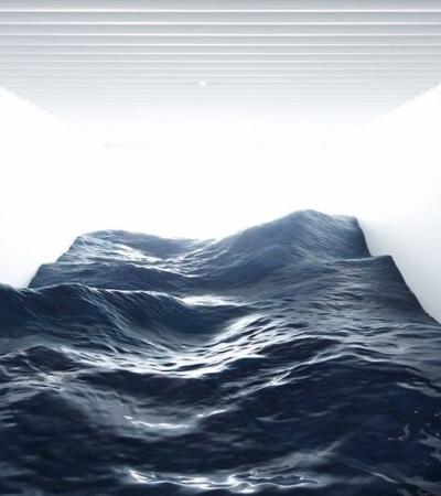 Artistas japoneses criam instalação incrível das ondas do mar dentro de uma sala