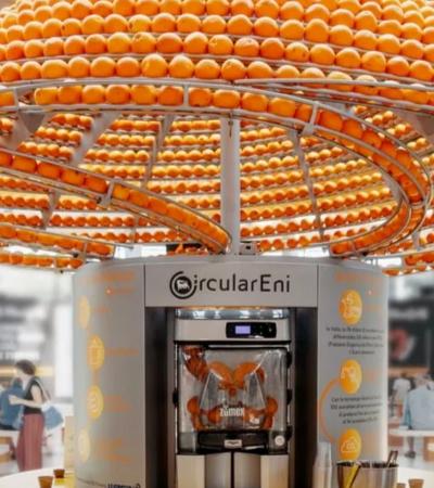 Designers criam máquina que faz suco e imprime copos com casca da laranja