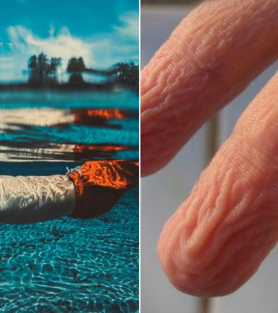 Entenda por que seus dedos ficam enrugados após muito tempo na água