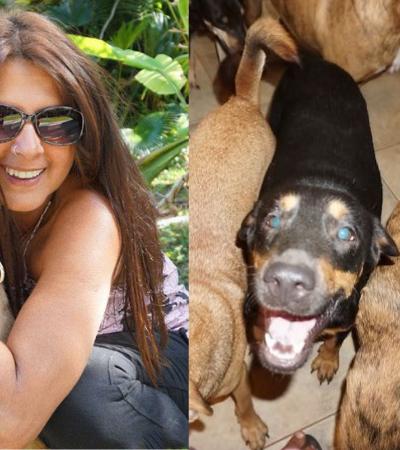 Ela abrigou 97 cães sem lar em sua casa durante a passagem do furacão Dorian
