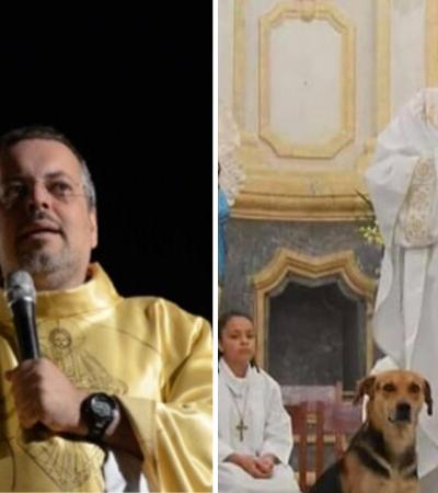 Padre resgata cães e os leva a missas para serem adotados