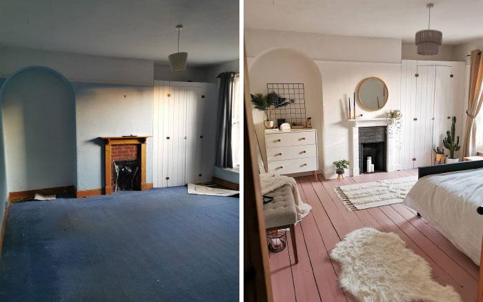 quarto de hóspedes antes e depois 1
