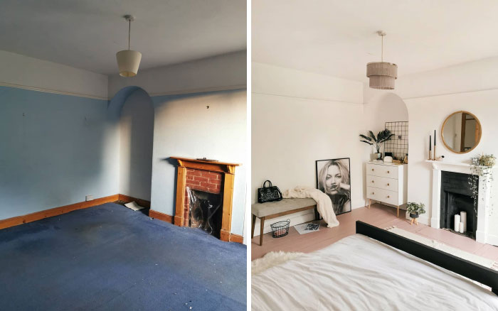 quarto de hóspedes antes e depois 2