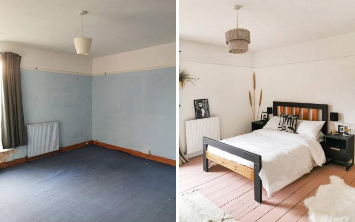 quarto de hóspedes antes e depois 3
