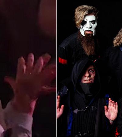 Esta senhorinha tocando o terror num show do Slipknot é apenas maravilhosa