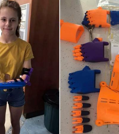 Plástico reciclado de embalagens de shampoo vira próteses para crianças com deficiência