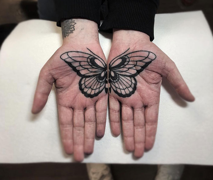 tattoo palma da mão 6