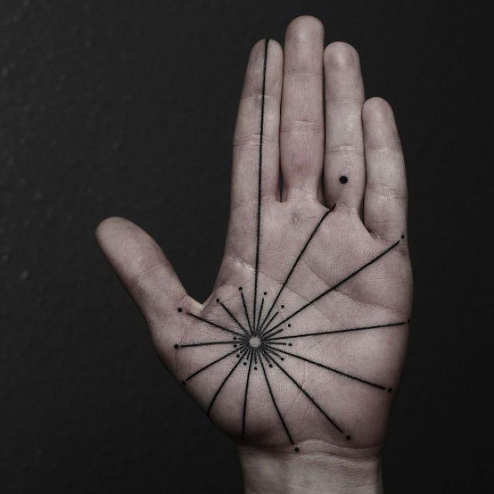 tattoo palma da mão 8