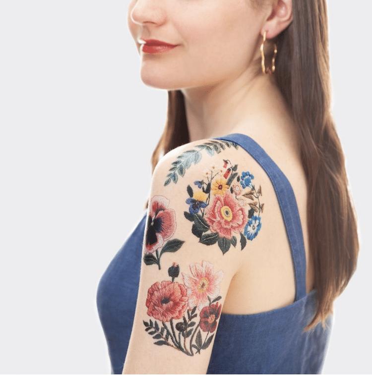 tatuagens temporárias de bordado 1