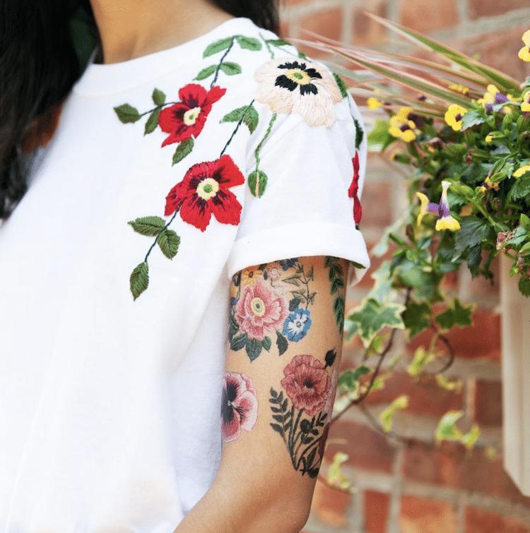 tatuagens temporárias de bordado 2