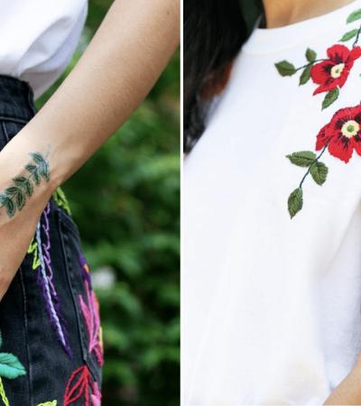 Estas tattoos temporárias que simulam bordados são apenas maravilhosas