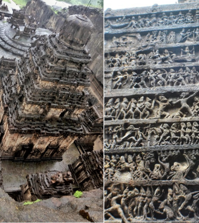 Este enorme templo do século 8 na Índia foi esculpido apenas em uma rocha