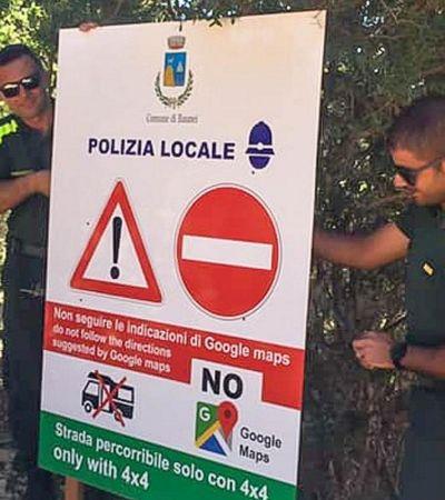 Cidade italiana bane uso de Google Maps por deixar muitos turistas em apuros