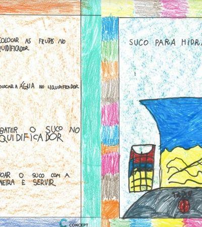 Estudantes do 1º ano criam livro de receitas com comidas saudáveis em Ribeirão Preto