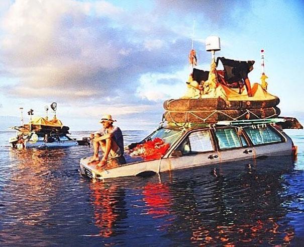 amigos atlântico carro flutuante 2