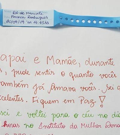 Mãe que recém perdeu bebê recebe bilhete fofo de enfermeiros e viraliza