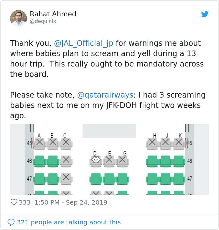 companhia aérea longe de bebês 2