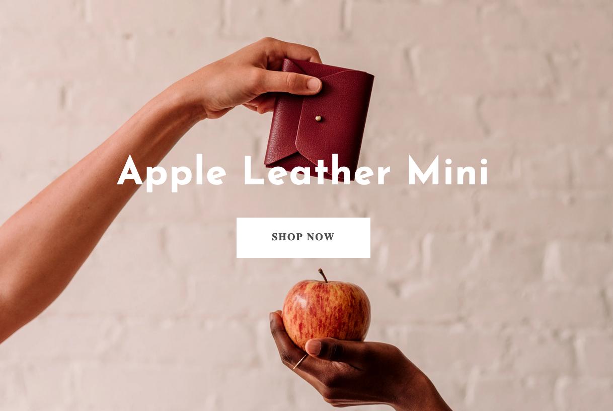 couro vegano casca de maçã 3