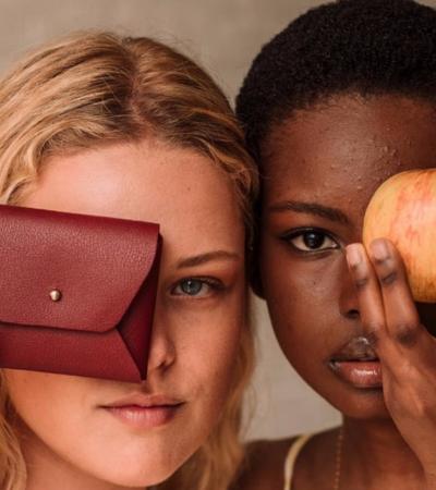 Designers criam couro vegano feito de cascas de maçã