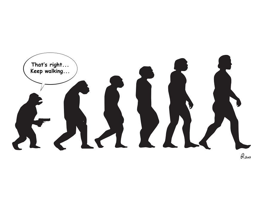 ilustrações silhuetas evolução 1