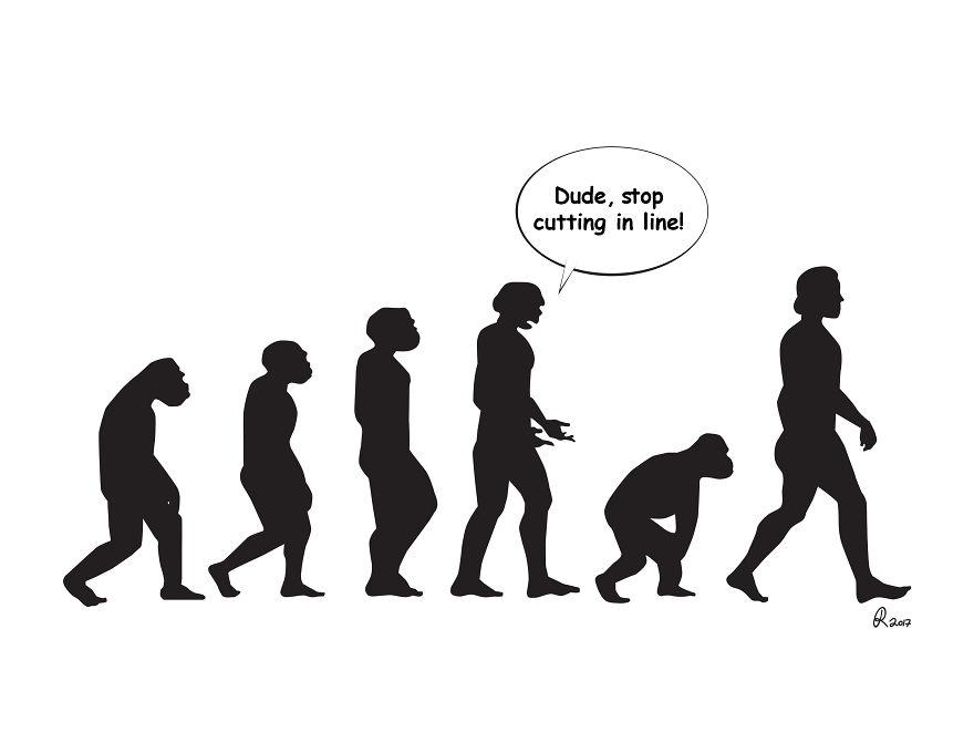 ilustrações silhuetas evolução 2