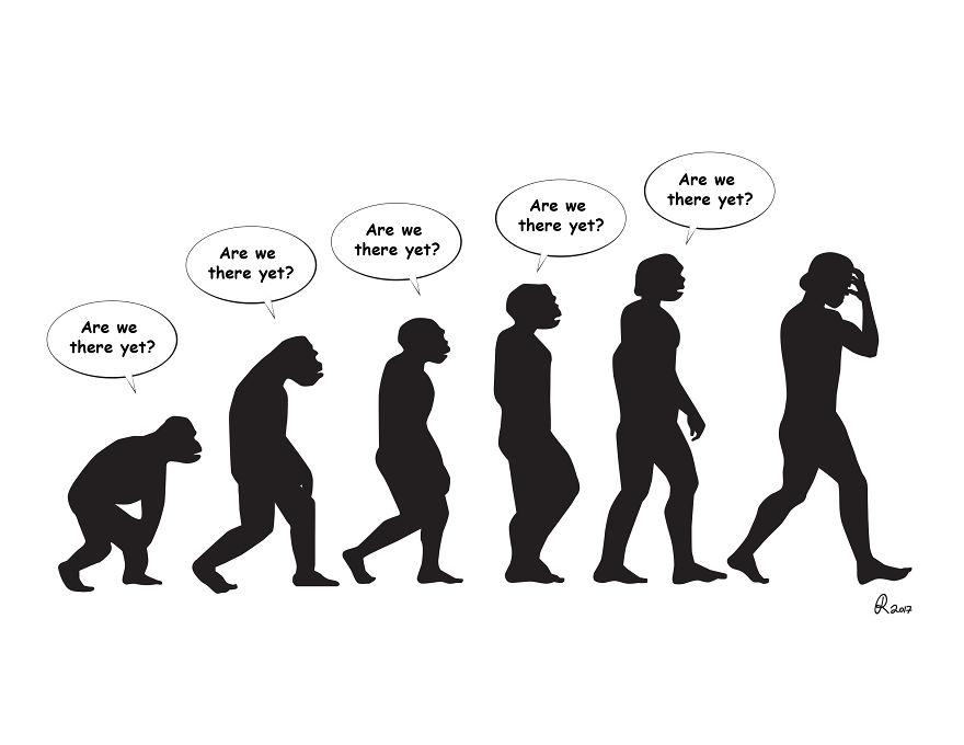 ilustrações silhuetas evolução 3