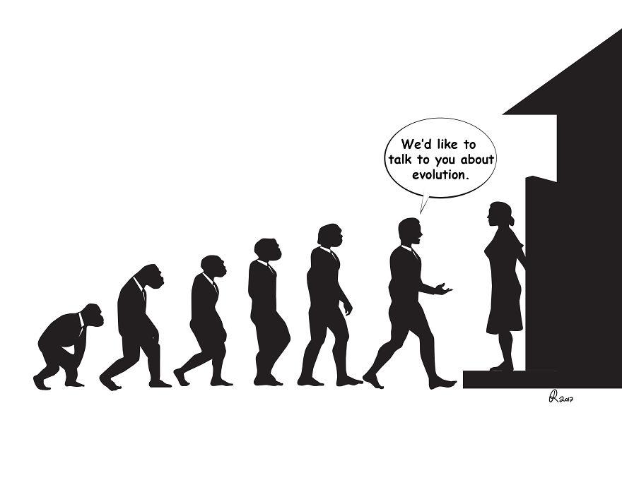 ilustrações silhuetas evolução 4