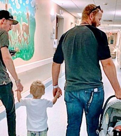 Esta mãe postou uma foto de seu ex e seu atual com seus filhos que viralizou