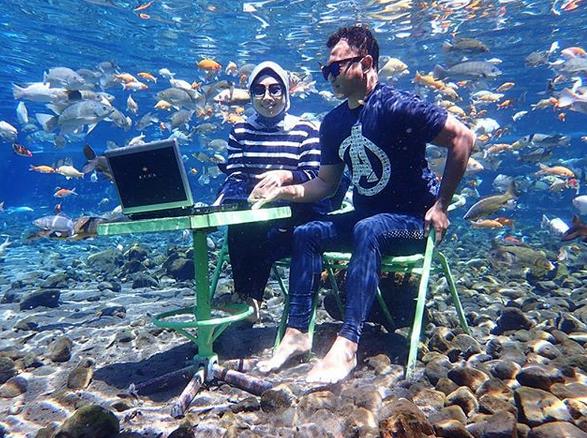 selfies subaquáticas indonésia 2