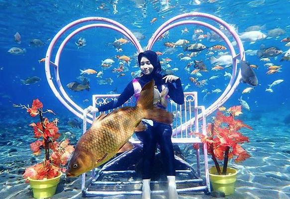 selfies subaquáticas indonésia 3