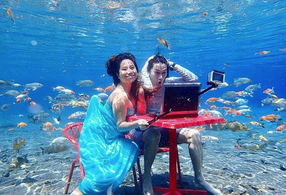 selfies subaquáticas indonésia 4