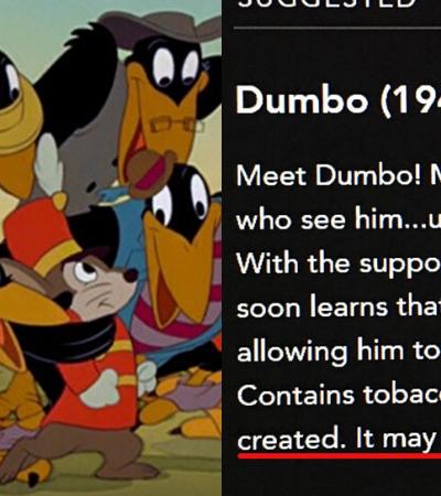 Disney vai colocar alerta de preconceito em cenas de filmes clássicos