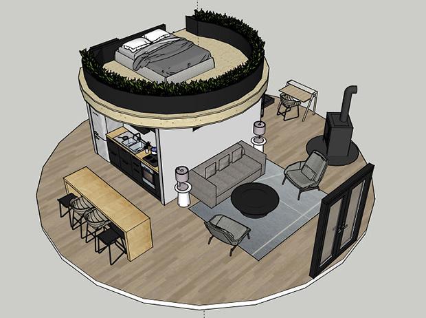 casal constroi yurt 4