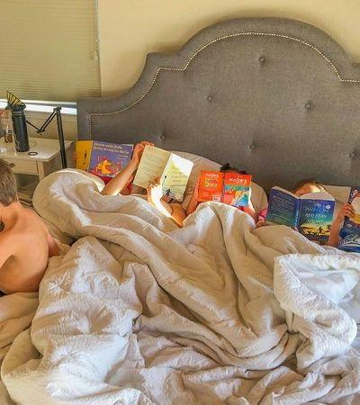 Mãe proíbe filhos de usar telas e 7 meses depois os resultados aparecem nesta foto