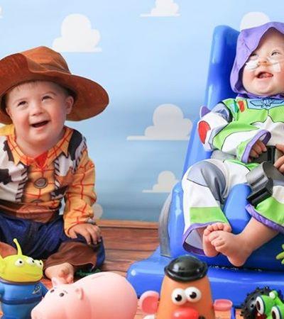 Fotógrafo reúne bebês com síndrome de Down em ensaio inspirado na Disney