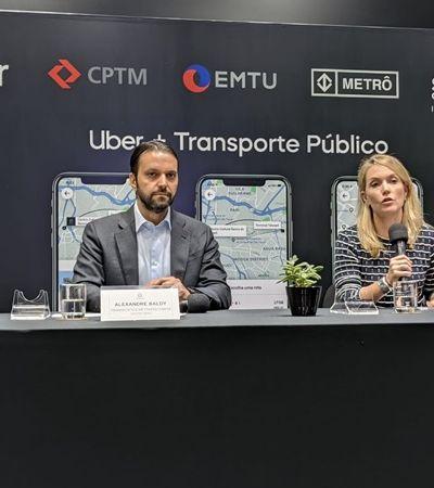 São Paulo anuncia integração entre Uber e transporte público