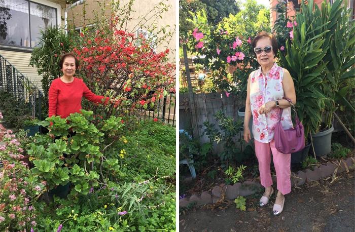 vovó estilosa roupa de flores 2