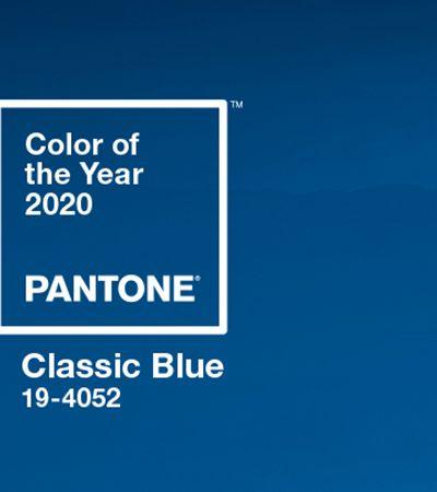 Simples e atemporal, azul clássico é a cor de 2020, segundo a Pantone