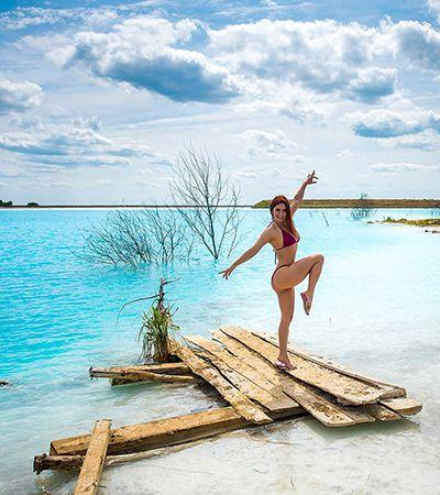 Aspirantes a influencers confundem lixão tóxico com lago paradisíaco