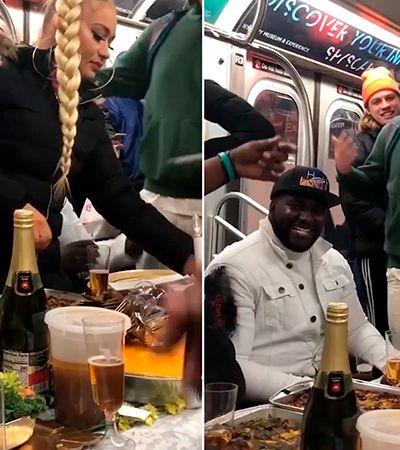 Imagina no Brasil: jantar de ação de graças no metrô em NY desperta amor e… nojo