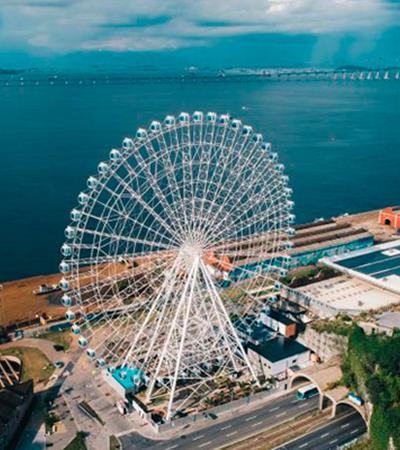 Rio de Janeiro inaugura maior roda gigante da América Latina; veja fotos