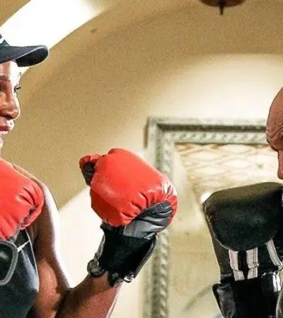 Mike Tyson e Serena Williams treinaram boxe juntos: 'Amor e respeito'
