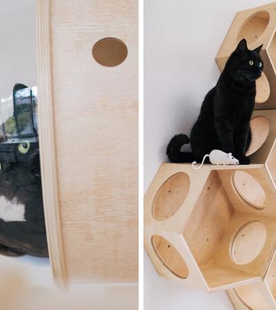 Casa de gatos modular é inteligente e ainda deixa a casa mais bonita