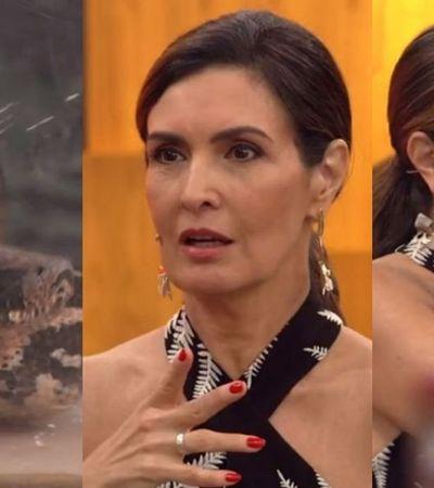 Fátima Bernardes toma susto com cobra ao vivo e internet se descontrola