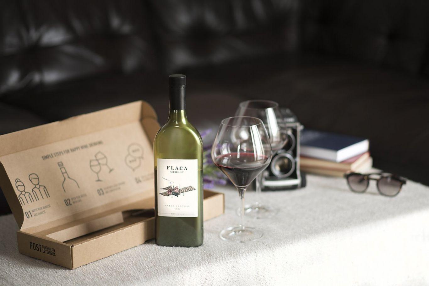 garrafa de vinho plana 1