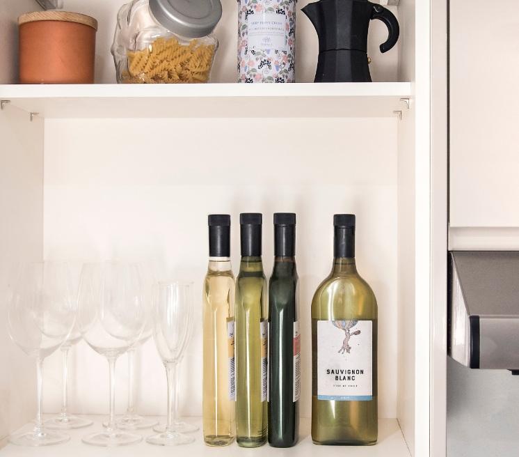 garrafa de vinho plana 3